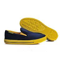 Converse All Star Slip On в сине-желтом цвете, фото 1
