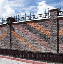 Фасадний камінь «Рустик» Невада (кутовий) 225х100х65 мм