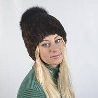 Женская шапка из натурального меха - Кролик, рекс (код 29-276)