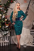 Красивое женское платье из трикотажа