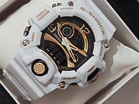 Спортивные наручные часы белого цвета Casio G-Shock Triple Sensor
