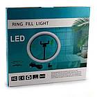 Кольцевая LED лампа для селфи 20 см RING LIGHT, фото 4