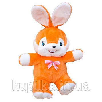 Мягкая игрушка Zolushka Заяц Сеня большой 73см оранжевый (0394)