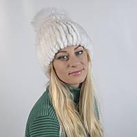 Женская шапка из натурального меха - Кролик, рекс (код 29-277)