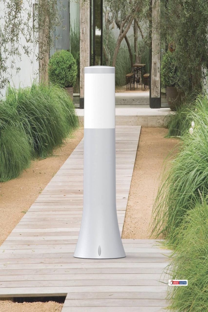 Грунтовой садово-парковый светильник пластиковый серый корпус Орхидея-2 Teb E27
