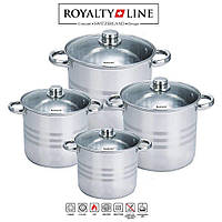 Набор кастрюль Royalty Line RL-SP8