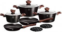 Набір кухонного посуду Berlinger Haus Ebony Rosewood 10 предметів BH 1534N