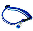 Нашийник для котів світловідбиваючий і з дзвіночком 30 см Синій, з доставкою, фото 4
