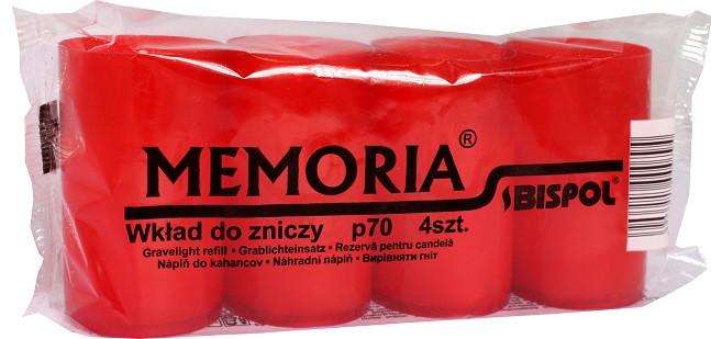 Лампадки красные в пластике Bispol 4,7 см 22 часа 4 шт (р70-a4-030)