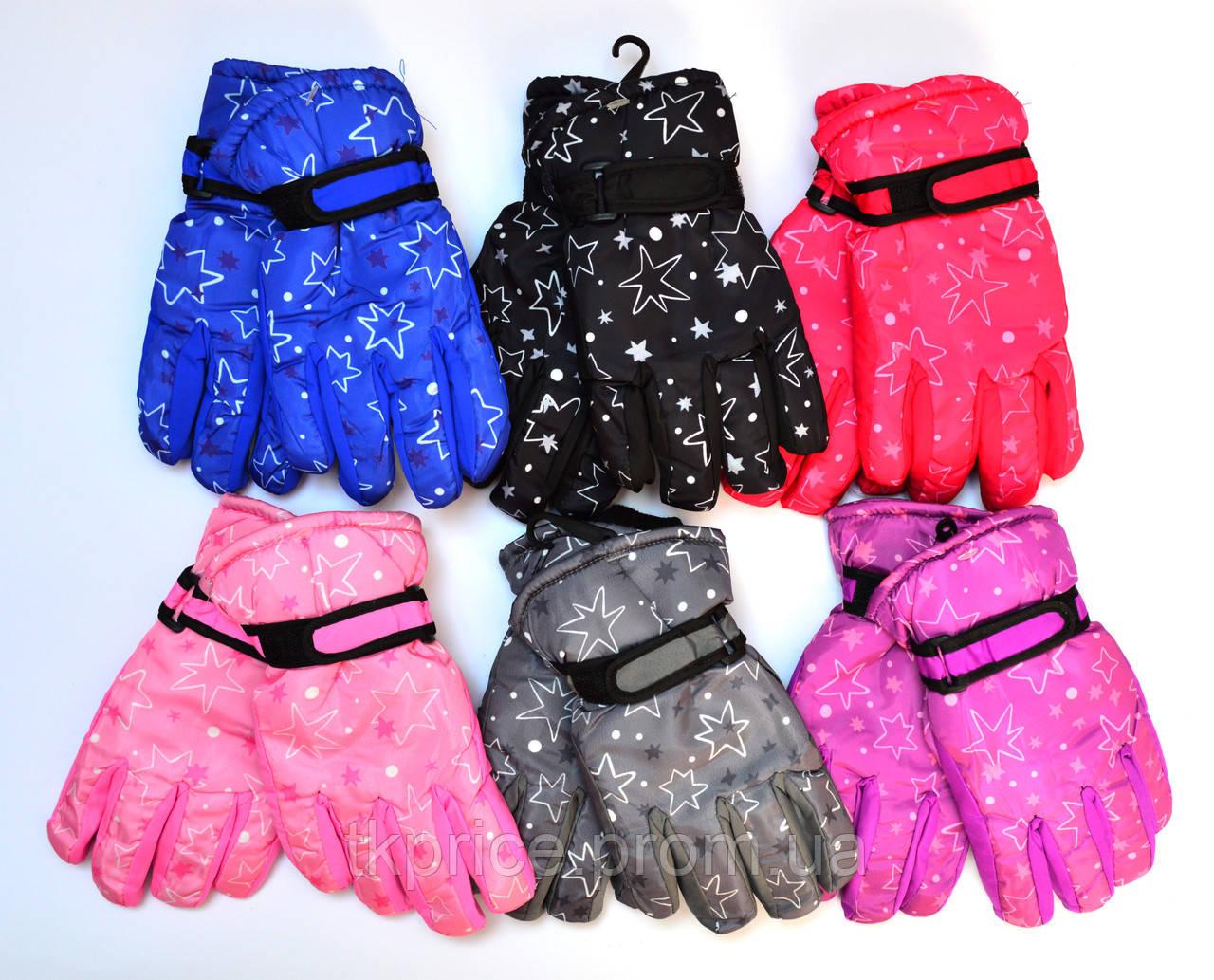 Детские болоневые перчатки на флисовой подкладке   - длина 18 см