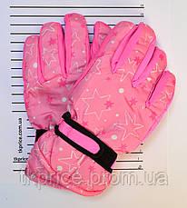 Детские болоневые перчатки на флисовой подкладке   - длина 18 см, фото 3