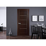 Межкомнатные двери Новый Стиль Мира ПВХ DeLuxe со стеклом сатин, цвет Бук пепельный, фото 3