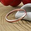 Серебряное Обручальное кольцо с позолотой вес 1.13 г размер 23, фото 4