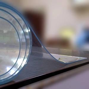 Мягкое стекло для столов прозрачная защитная скатерть для стола и мебели (60 x 100 см) толщина 1 мм