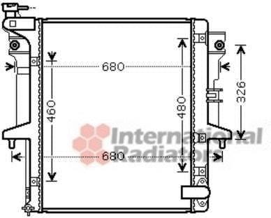 Радиатор охлаждения MITSUBISHI L 200 (06-) 2.5 D(производство Van Wezel) (арт. 32002202)