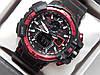 Мужские спортивные наручные часы Casio G-Shock черные с красным