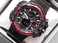 Мужские спортивные наручные часы Casio G-Shock черные с красным, фото 1