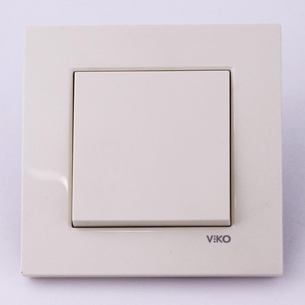 Выключатель одноклавишный VI-KO Karre скрытой установки (кремовый)