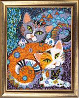 Наборы для вышивания бисером Кошки БФ_617