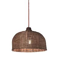 Винтажный подвесной светильник Ondaluce Panama (60 Вт, Italy), ротанг