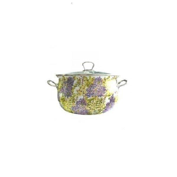 Кастрюля Lessner Lilac 5,8л d24 см емаль (55203-24 LS)