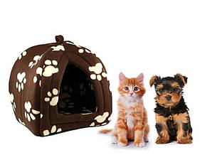 Портативна підвісна м'яка будка для собак і котів Pet Hut
