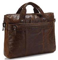 Кожаная сумка для документа с отделением для нетбука Vintage 14059 Коричневая [44135-12]