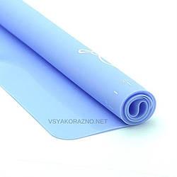 Силиконовый коврик для выпечки антипригарный, большой 62*42 / Силіконовий килимок для випічки (голубой)