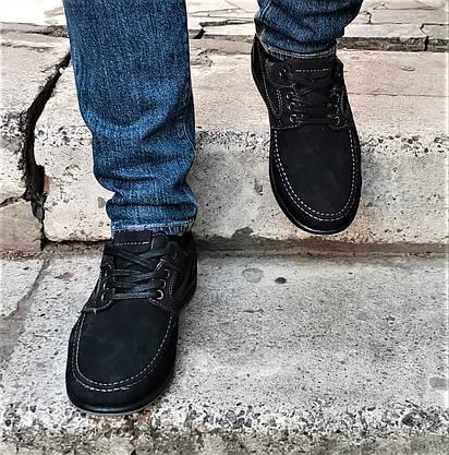 Чоловічі Мокасини Чорні Замшеві Туфлі (розміри: 42,45), фото 2