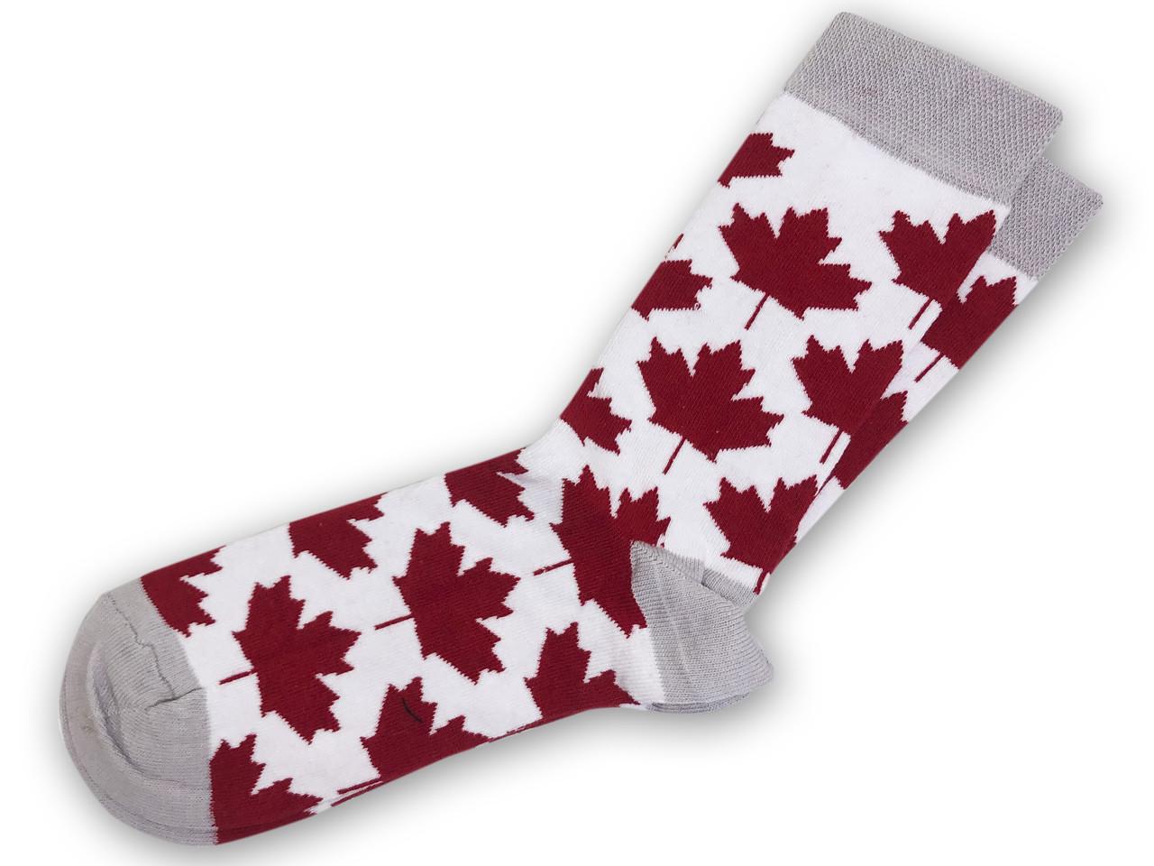 Носки Neseli Daily Флаг Канады белые 5845