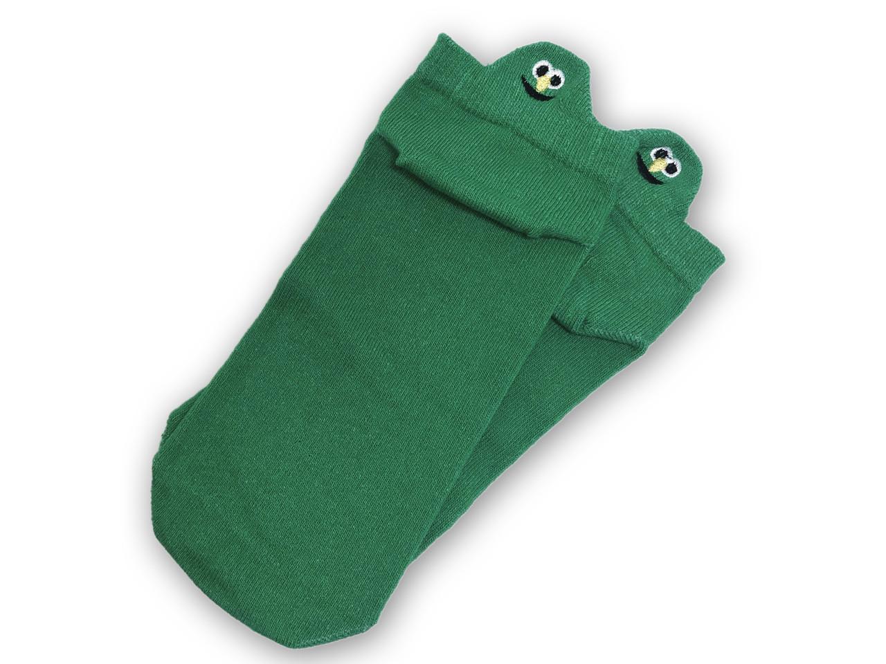Носки Neseli короткие зеленые смайлы 7410