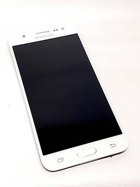Модуль сенсор + дисплей белый Samsung J5 J500H  оригинал б.у., фото 2