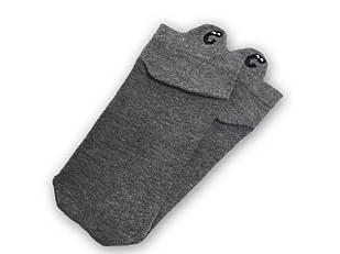 Шкарпетки Neseli короткі сірі смайли 7409