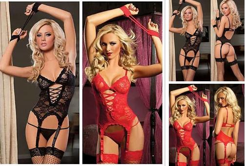 Эротическое белье Сексуальное боди Для ролевых игр Эротический комплект > (52 размер размер XL )