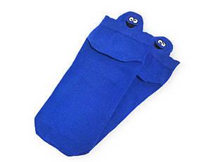 Шкарпетки Neseli короткі сині смайли 7408