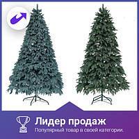 Новогодняя искусственная литая ель 2,1 метра Ковалевская зеленая, фото 3