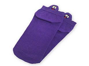Шкарпетки Neseli короткі фіолетові смайли 7407