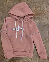 Худи Tik Tok с начесом для девочек, 128-164 рр. Артикул: AS5394-розовый