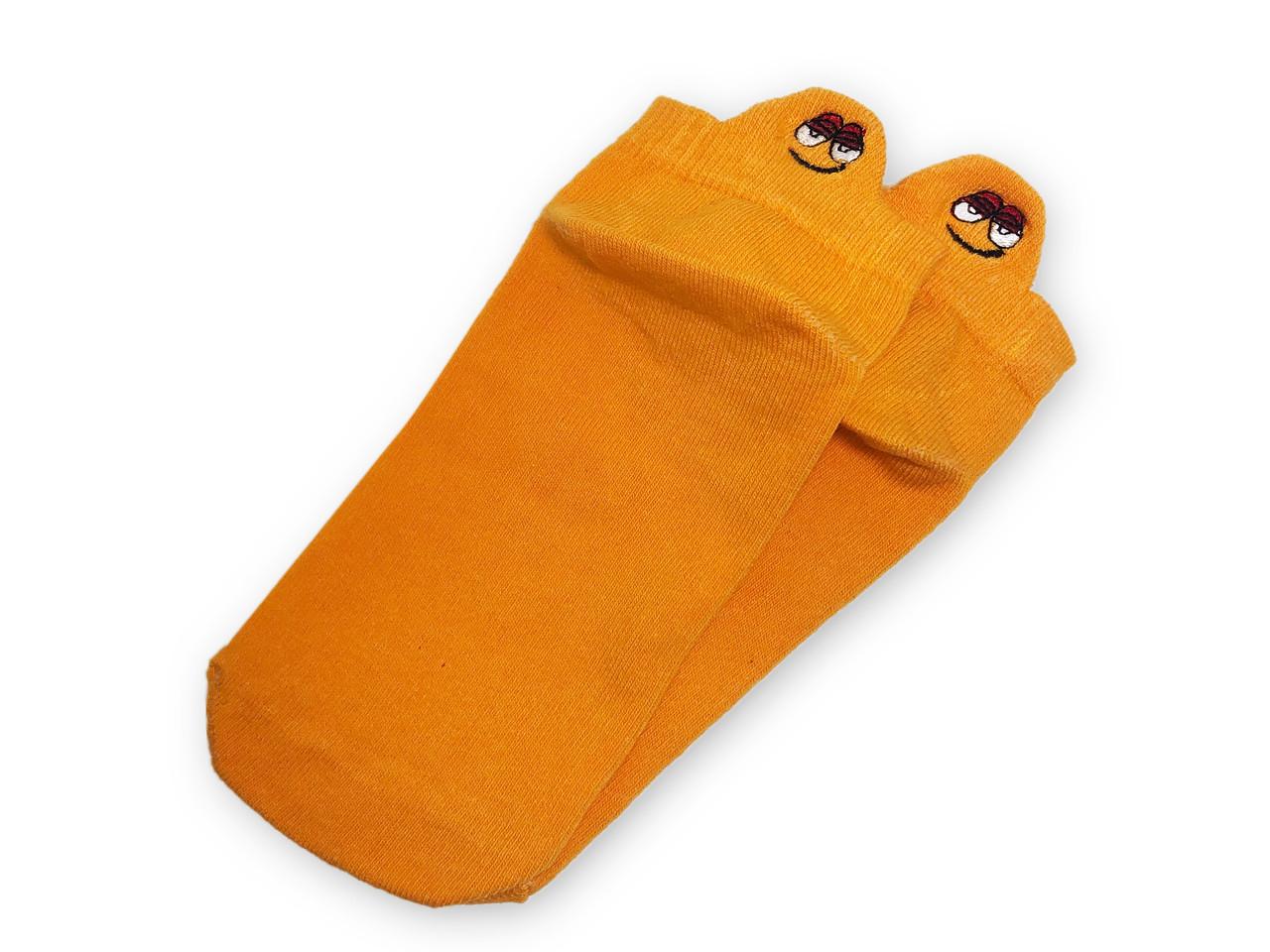 Носки Neseli короткие оранжевые смайлы 7406