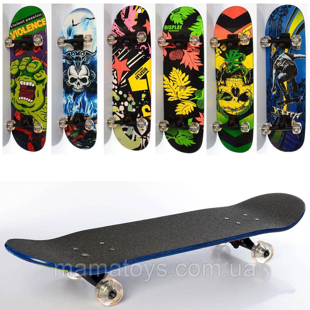 Деревянный Скейт MS 0355-4 Колеса ПУ Размер 79 - 20 см