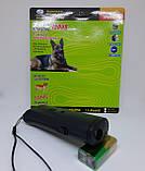Ультразвуковой отпугиватель собак c фонариком AD-100 Отпугиватель животных Защита от собак, фото 4