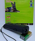 Ультразвуковой отпугиватель собак c фонариком AD-100 Отпугиватель животных Защита от собак, фото 3