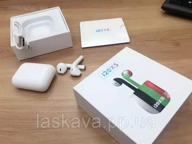 Бездротові навушники TWS i20xs, Bluetooth 5.0 Блютуз гарнітура, сенсорні блютуз навушники