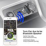 Аудио адаптер Bluetooth AUX 3.5 мм, Bluetooth-гарнитура для автомобиля, ресивер для автомагнитолы, блютуз, фото 3