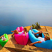 Надувной лежак Ламзак Пляжный надувной шезлонг Шезлонг надувной пляжный с сумкой для переноски
