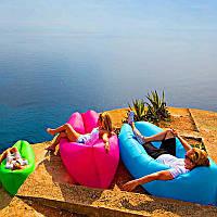 Надувной лежак Пляжный надувной шезлонг Шезлонг надувной пляжный с сумкой для переноски