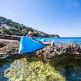 Надувний лежак Ламзак Пляжний надувний шезлонг Шезлонг надувний пляжний з сумкою для перенесення, фото 2