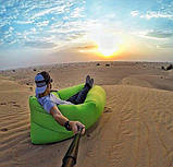 Надувной лежак Ламзак Пляжный надувной шезлонг Шезлонг надувной пляжный с сумкой для переноски, фото 3