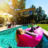 Надувний лежак Ламзак Пляжний надувний шезлонг Шезлонг надувний пляжний з сумкою для перенесення, фото 7