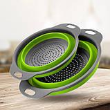 Силиконовый дуршлаг Collapsible filter baskets (дуршлаг дуршлак друшляк друшлак), фото 2